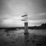 CWCH #2 pinhole camera print developed during show by Pierre Metzinger