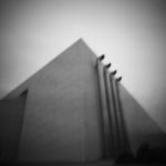 CWCH #5 pinhole camera print developed during show by Pierre Metzinger