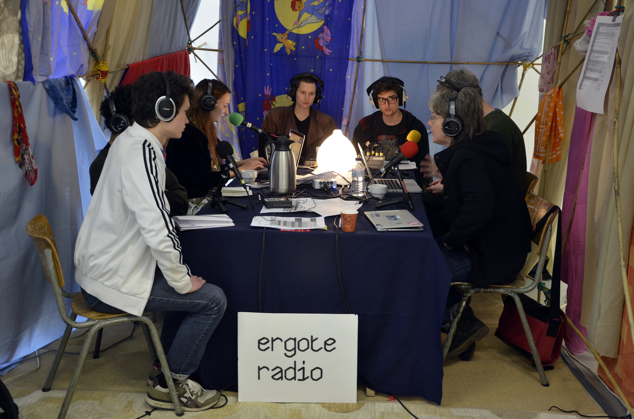 In the Radio Ergote studio. Photo by Marc Wathieu