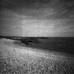 CWCH #1 pinhole camera print developed during show by Pierre Metzinger