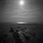 CWCH #3 pinhole camera print developed during show by Pierre Metzinger