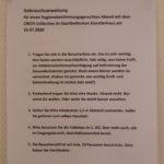 CWCH #15 Corona rules at the Künstlerhaus